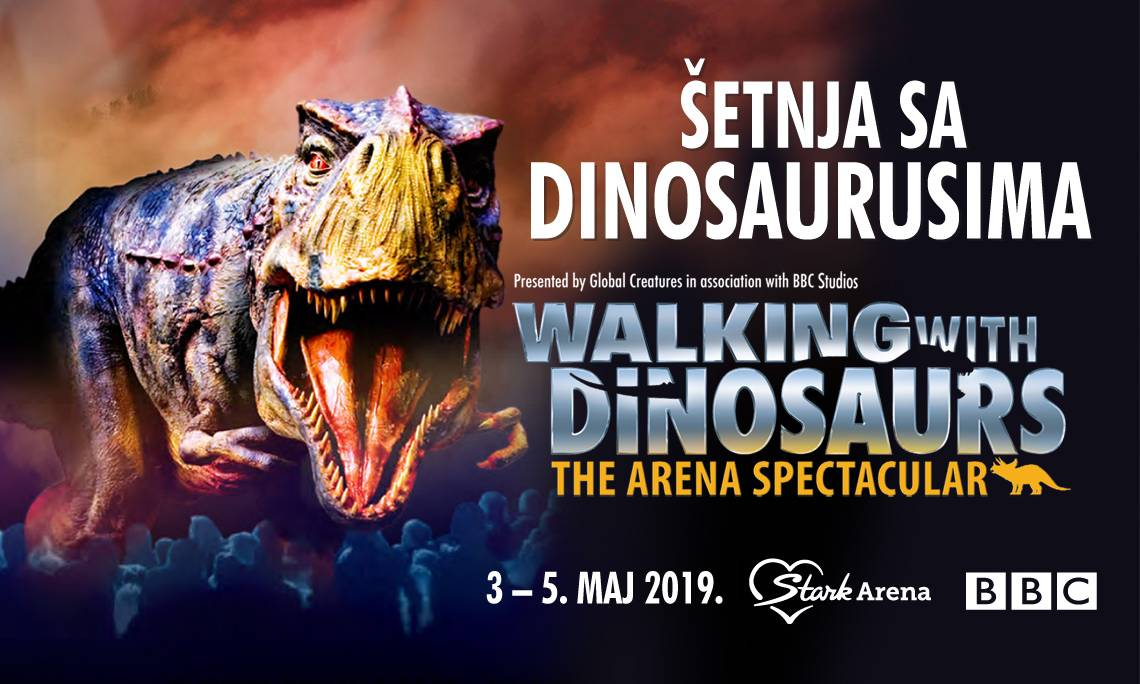 Belgrade walk with dinosaurs